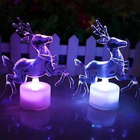 olcso Vakációs kellékek-Karácsonyi rénszarvas akril színes vezetett éjjeli
