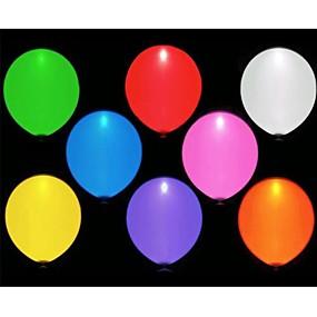 olcso Vakációs kellékek-10db vezetett balloms (véletlenszerű szín)