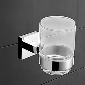 رخيصةأون أدوات الحمام-حاملة فرشاة الأسنان كوول معاصر نحاس 1PC - حمام / حمام الفندق فرشاة الأسنان وملحقاتها مثبت على الحائط