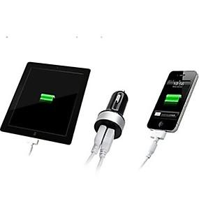 povoljno Xiaomi-Auto punjač USB punjač Više portova 2 USB portova 2.1 A / 1 A DC 12V-24V za