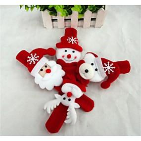 olcso Vakációs kellékek-Karácsonyi ajándékok Karácsnyi játékok karpánt Hóember Cuki Mikulás Textil Gyermek Fiú Lány Játékok Ajándék 1 pcs