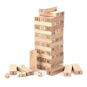billiga Spelleksaker-trä 1 ~ 48 antal byggstenar Jenga leksak set