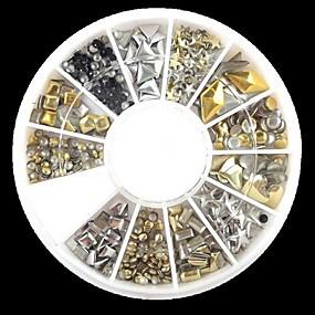 رخيصةأون المكياج-240 pcs مجموعة فن الأظافر أحجار الراين فن الأظافر تجميل الأظافر والقدمين يوميا ملخص / بانغك / موضة / معدن