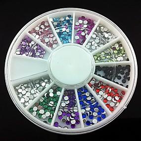 رخيصةأون المكياج-360 pcs أكريليك مجموعة فن الأظافر من أجل إصبع فن الأظافر تجميل الأظافر والقدمين ملخص / الزفاف