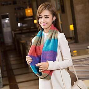 رخيصةأون إشاربات و لفات-المرأة الخريف والشتاء اللون مختلطة الحياكة والأوشحة الحارة
