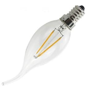 olcso ONDENN-1db 2 W Izzószálas LED lámpák 200 lm E14 CA35 2 LED gyöngyök COB Tompítható Dekoratív Meleg fehér 220-240 V / # / CE / RoHs