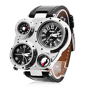 olcso Személyre szabott órák-Személyre szabott ajándékot Watch, Két időzóna Japán kvarc Watch With ötvözet tok anyaga PU Zenekar Katonai óra Vízállóság Mélység