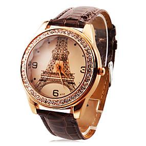 olcso Személyre szabott órák-Személyre szabott ajándékot Watch, Analóg Kvarc Watch With ötvözet tok anyaga Bőr Zenekar Divatos óra Vízállóság Mélység