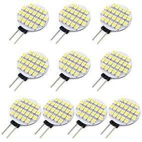 ieftine Becuri LED Bi-pin-10pcs 1.5 W Becuri LED Bi-pin 118 lm G4 24 LED-uri de margele SMD 3528 Alb Cald Alb Rece 12 V / RoHs