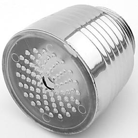 رخيصةأون أدوات الحمام-RC-f1102 تيار المياه أنيقة ملونة مضيئة أدى ضوء صنبور ضوء (البلاستيك، والانتهاء من الكروم)