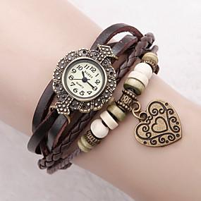 ieftine Cuarț ceasuri-Pentru femei Ceas Brățară ceasul cu ceas Quartz femei Analog Alb Negru Rosu / Un an / Piele PU Matlasată / Un an / Jinli 377