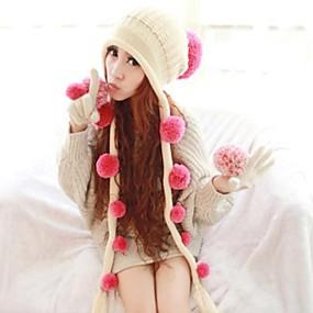 Недорогие Головные уборы-женская мода сладкий кисточкой с мячом теплой Вязание Hat