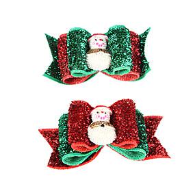 Недорогие Бижутерия и аксессуары для собак-Рождество серии известные волосы снеговик шаблон резинкой лук для домашних собак (случайный цвет)