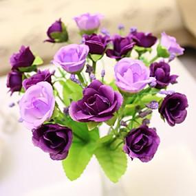 """olcso Művirágok-7,9 """"l 1 db nemes 21 fej többszínű gyémánt rózsák selyem ruhával"""