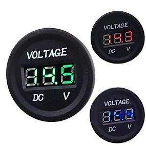 olcso Motorkerékpár & ATV alkatrészek-Autós motorkerékpár DC 12V 24V digitális LED voltmérő