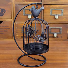 levne Home Fragrances-v evropském stylu retro černá klec Svícen