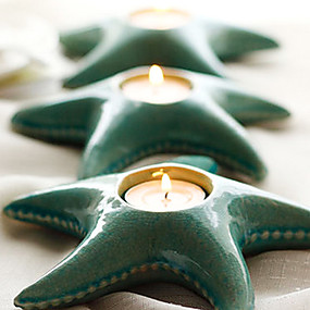 levne Home Fragrances-hvězdice keramika Svícen