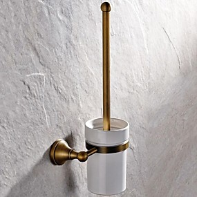 رخيصةأون أدوات الحمام-حاملة فرشاة التواليت جودة عالية أنتيك نحاس 1 قطعة - حمام الفندق