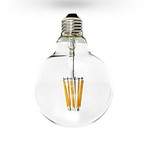 billige ONDENN-1pc 6 W LED-glødepærer 600 lm E26 / E27 G125 6 LED perler COB Mulighet for demping Varm hvit 220-240 V 110-130 V / RoHs