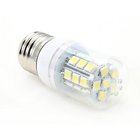 olcso US Raktár-3 W LED kukorica izzók 300-350 lm E26 / E27 T 27 LED gyöngyök SMD 5050 Hideg fehér 85-265 V