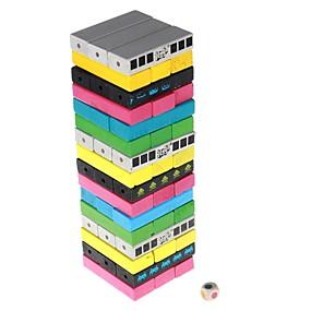 رخيصةأون ألعاب النماذج والتركيب-الألوان jenga تصميم خشبية اللبنات jenga مجموعة لعبة للأطفال