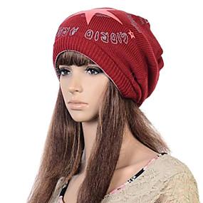 Недорогие Головные уборы-женская мода личности теплый пентаграмма граффити цветной печати шарф шляпа