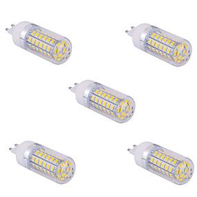 olcso SENCART-YWXLIGHT® 5pcs 10 W LED kukorica izzók 1500 lm G9 T 60 LED gyöngyök SMD 5730 Meleg fehér Hideg fehér 220 V 110 V / 5 db.