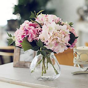 povoljno Umjetno cvijeće-Umjetna Cvijeće 1 Podružnica Europska Style Hortenzije Cvjeće za stol