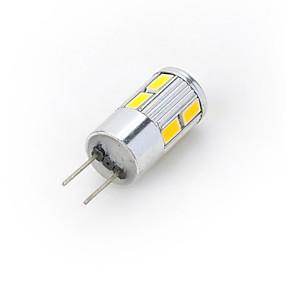 olcso Marsing-LED szpotlámpák LED betűzős izzók 300-400 lm G4 10 LED gyöngyök SMD 5730 Meleg fehér Hideg fehér 12 V / 1 db. / RoHs