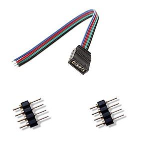 olcso Lámpa aljzatok-femal 4pin színes led-csatlakozó + 2 x 4pin male csatlakozó RGB 5050/3528 LED csík fény csatlakozni