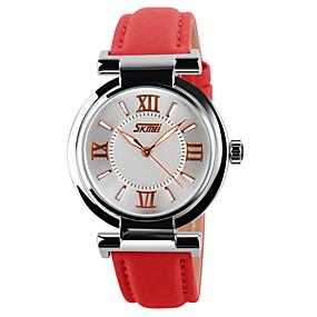 Недорогие Фирменные часы-SKMEI Жен. Наручные часы Кварцевый Кожа Черный / Белый / Синий Фосфоресцирующий Аналоговый Дамы На каждый день Мода - Красный Синий Розовый Два года Срок службы батареи / Maxell SR626SW