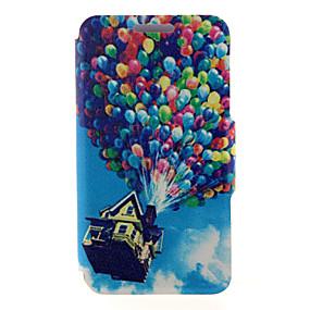 Недорогие Чехлы и кейсы для Galaxy A8-Кейс для Назначение SSamsung Galaxy A8 / A7 / A5 Бумажник для карт / со стендом / Флип Чехол Воздушные шары Кожа PU