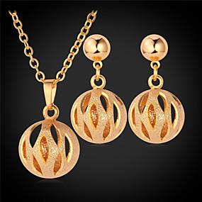 olcso U7-Női Harmony Ball nyaklánc hölgyek Platina bevonat Arannyal bevont Fülbevaló Ékszerek Arany / Ezüst Kompatibilitás Esküvő Parti Napi Hétköznapi Sport / Fülbevalók / Nyakláncok