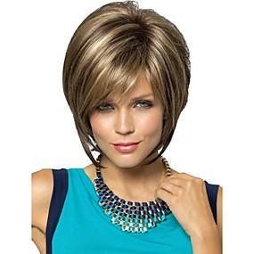 ieftine Sănătate & Înfrumusețare-Peruci Sintetice Drept Drept Frizură Pixie Perucă Blond Scurt Blond Păr Sintetic Pentru femei Blond StrongBeauty