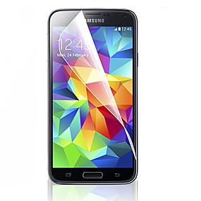 Недорогие Чехлы и кейсы для Galaxy S-Защитная плёнка для экрана для Samsung Galaxy S5 PET Защитная пленка для экрана HD