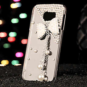 voordelige Galaxy S6 Edge Plus Hoesjes / covers-hoesje Voor Samsung Galaxy S7 edge / S7 / S6 edge plus Strass Achterkant 3D Cartoon PC