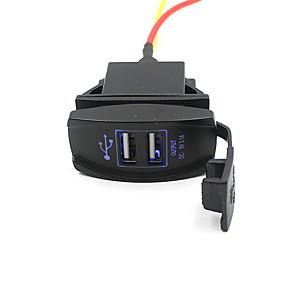 Недорогие Автомобильные зарядные устройства-5v 3.1a двойной порт USB автомобильное зарядное устройство розетка для внедорожника мотоцикла лодка водонепроницаемый и пылезащитный