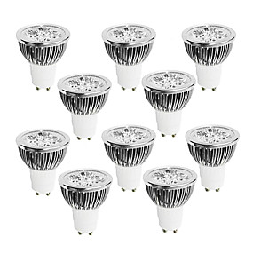 olcso LED szpotlámpák-10pcs 4 W 400-450 lm GU10 LED szpotlámpák 4 LED gyöngyök Nagyteljesítményű LED Tompítható Meleg fehér / Hideg fehér / Fehér 220-240 V / 10 db. / RoHs