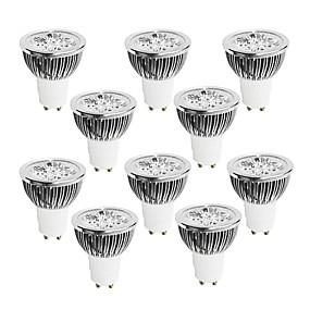 povoljno Dom i vrt-10pcs 4 W 400-450 lm GU10 LED reflektori 4 LED zrnca Visokonaponski LED Zatamnjen Toplo bijelo / Hladno bijelo / Bijela 220-240 V / 10 kom. / RoHs