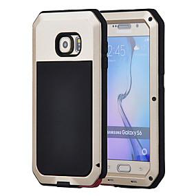 رخيصةأون Galaxy S5 أغطية / كفرات-غطاء من أجل Samsung Galaxy S6 / S5 / S4 ضد الماء / ضد الصدمات / ضد الغبار غطاء كامل للجسم درع قاسي معدن