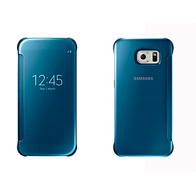 voordelige Galaxy S6 Edge Plus Hoesjes / covers-hoesje Voor Samsung Galaxy S8 Plus / S8 / S7 edge met venster / Automatisch aan / uit / Spiegel Volledig hoesje Effen Hard PC
