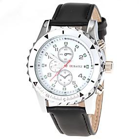 Недорогие Фирменные часы-JUBAOLI Муж. Нарядные часы Авиационные часы Кварцевый Кожа Черный / Коричневый Аналоговый - Белый / Черный Черный Коричневый