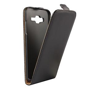 olcso Galaxy J1 tokok-Case Kompatibilitás Samsung Galaxy J5 (2016) / J5 / J3 (2016) Flip Héjtok Egyszínű PU bőr