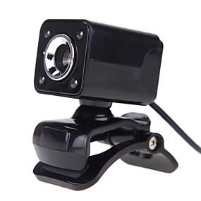 olcso Webkamerák-OEM - A862 - 10,0+ - 640 x 480 - Night vision LED/Beépített mikrofon/HD Videó hívás/Hajlítható/Skype - Újdonság - Webcam