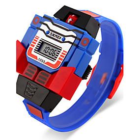 Недорогие Фирменные часы-SKMEI Муж. Наручные часы Кварцевый Pезина Синий / Красный / Серый Календарь ЖК экран Цифровой Мультяшная тематика - Желтый Красный Синий Два года Срок службы батареи / Maxell626 + 2025