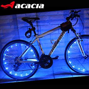 olcso Sport és életmód-LED Kerékpár világítás szelepsapkát villogó fények kerék fények - Hegyi biciklizés Kerékpár Kerékpározás Vízálló Hordozható Színváltós Melegítő cellás akkumulátor 400 lm USB AkkumulátorBattery
