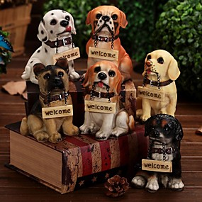 cheap Home Supplies-Welcome Sign Stitting Dog Figure Smiling Puppy Cafe Home Decoration (Random Color)