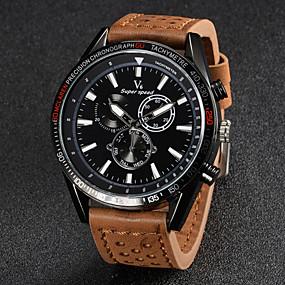 voordelige Merk Horloge-V6 Heren Polshorloge Luchtvaart Watch Kwarts Japanse quartz Leer Zwart / Bruin / Kaki Vrijetijdshorloge Analoog Amulet - Zwart Bruin Khaki Twee jaar Levensduur Batterij / Mitsubishi LR626
