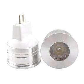 olcso HRY®-1db 1 W LED szpotlámpák 60lm MR11 MR11 1 LED gyöngyök Nagyteljesítményű LED Dekoratív Meleg fehér Hideg fehér Természetes fehér 12 V / 1 db. / RoHs