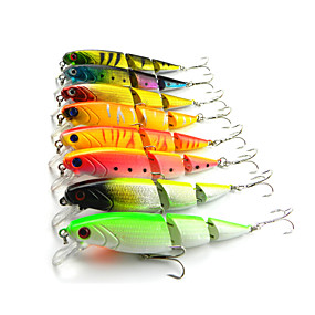 ieftine Momeală Pescuit-8 pcs Δόλωμα Momeală Dură Plevușcă Scufundare Bass Păstrăv Ştiucă Pescuit mare Pescuit de Apă Dulce Pescuit Biban Plastic Dur